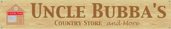 Uncle Bubba's Country Store -tshirts, jewelry, caps, furniture, quilts, and more.